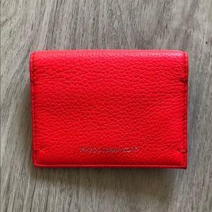 Rebecca Minkoff Red Leather Cardholder/Wallet